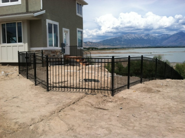 ornamental iron fence west jordan